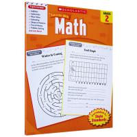 正版英文原版小学教材 Scholastic Success with Math 2 英文版 美国小学二年级数学练习册
