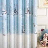 宜家美式田园卡通小清新窗帘 定制卧室落地飘窗成品棉麻遮光布料