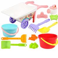 儿童沙滩玩具车套装宝宝玩沙挖沙漏桶大号铲子决明子工具婴儿洗澡