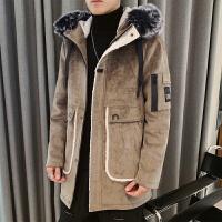 呢子大衣男冬季韩版英伦风中长款大衣男士潮流帅气风衣加厚外套潮