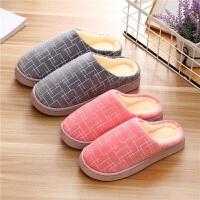 韩学生棉拖鞋冬季男女室内毛毛鞋情侣居家鞋半包跟保暖月子鞋防滑