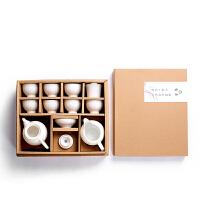 玉瓷功夫茶具套装德化手工白瓷茶壶陶瓷盖碗茶杯整套家用礼品套装