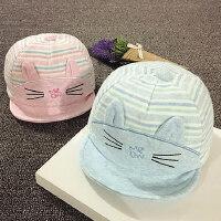 儿童鸭舌帽春秋宝宝帽子1-2岁男女婴儿帽子6-个月韩版遮阳帽潮
