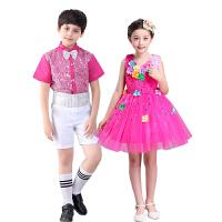 六一儿童演出服装亮片幼儿礼服舞蹈合唱表演花蓬蓬纱裙男孩女孩
