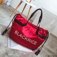 短途旅行包女手提韩版大容量行李袋轻便出差旅游包防水健身包 大