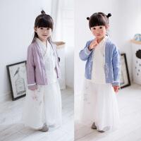 汉服女童古装仙女服改良中国风套装小孩宝宝儿童国学服装公主童装