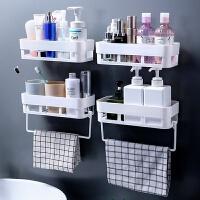 墙壁置物架浴室化妆品 4只装架子置物化妆品收纳盒挂墙上用卫生间放的墙壁浴室圆