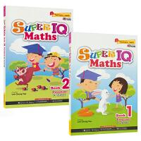 SAP Super IQ Maths Preschool Book 新加坡教辅 IQ数学学前练习册2册套装 挑战大脑