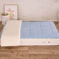 家纺正反两用乳胶春夏床垫透气薄床褥垫可洗 乳胶床垫褥 裸厚3厘米