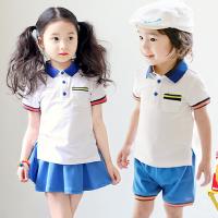 班服夏季韩版学院风男女童运动短袖套装儿童洋气童装时髦两件套潮
