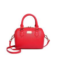 新款女包手提包迷你波士顿包枕头包简约大气百搭单肩包vdsn 热情大红