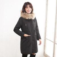 【1件3折 到手价:299元】高梵时尚毛领羽绒服女中长款新款休闲韩版外套