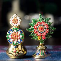 藏传佛教用品高8.5cm密宗修行法器供品八供摆件 酥油花 摆件