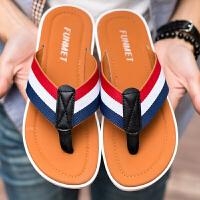 夏季拖鞋男士英伦凉拖鞋人字拖男潮流室外凉鞋个性沙滩鞋厚底防滑