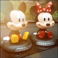 可爱迪士尼车上内饰品米奇米妮米老鼠 卡通车载摇头 创意汽车摆件