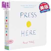 【中商原版】Press Here 纸板书:按按这里 英文原版 进口图书 纸板书 亲子互动 学龄前 0-3岁
