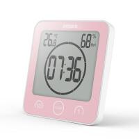 浴室数字挂钟电子温湿度计器静音防水卫生间厨房吸盘时钟表 其他