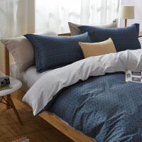 床上纯棉四件套全棉1.8m床双人床单三件套床上用品宿舍1.5米