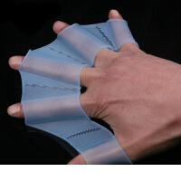 硅胶游泳装备划水掌手蹼训练儿童游泳手噗自由泳手套手璞