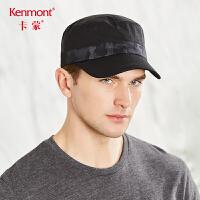 卡蒙黑色帽子短鸭舌帽男短檐
