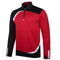 KELME卡尔美 K15Z316 半拉链训练夹克 长袖足球运动夹克 男球员版针织套头运动外套 拇指扣