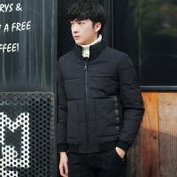 秋冬季男士棉衣韩版修身立领加厚休闲外套潮流青年纯色短款男