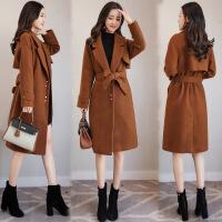 女装毛呢外套秋冬中长款2017韩版宽松加厚茧型小个子呢子大衣