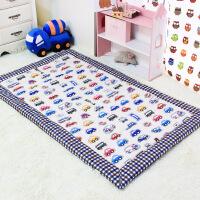儿童午睡垫幼儿园地铺地垫折叠垫子爬行垫垫子游戏垫卧室客厅床前 罗马格卡丁车A 加厚款3 150cm* 90cm