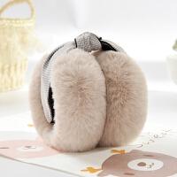 耳罩女冬季保暖学生耳暖可调节折叠仿兔毛可爱耳套毛绒男女耳捂子
