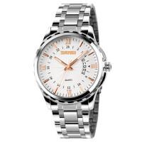 户外运动潮流时尚商务休闲经典复古男士防水日历石英钢表手表
