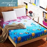 防滑全包床笠席梦思床垫套保护床罩防尘螨拉链可拆卸6面床包