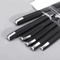 黑色水笔磨砂笔杆中性笔文具创意学生用0.5中性笔简约商务签字笔