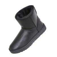 冬季男士雪地靴保暖防水防滑靴子情侣东北加绒棉鞋学生面包鞋