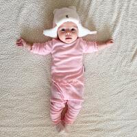 婴儿童装内衣套装家居服睡衣春秋装女童打底衫公主0岁1个月3宝宝