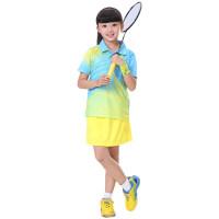 儿童装运动服女童羽毛球服装 表演服裙裤套装班服队服