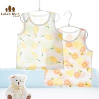 儿童吊带背心夏季婴儿水果系印花马甲无袖打底内衣