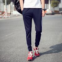 运动裤男士休闲裤男长裤青少年直筒宽松大码夏季卫裤 藏青色 M