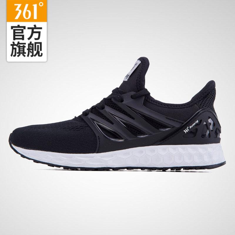 【每满100减50】361度男鞋 跑步鞋网面运动鞋男361透气跑鞋男