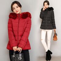 韩版冬季棉衣中老年女中长款中年人羽绒妈妈装新款外套40岁50
