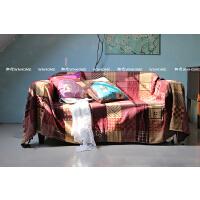 ## 沙发巾 单人双人三人沙发毯 定制 125 红