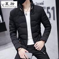 夏妆男士外套冬季新款男装冬装棉衣韩版短款潮流帅气加厚棉袄