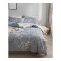 ins床上四件套棉1.8m床1.5米双人简约床单被罩被套三件套