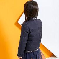 【8.9品牌盛典 5折到手价274.5元】amii童装2017秋冬新款男女童羽绒服中大童儿童短款加厚外套男孩