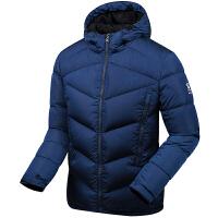 KELME卡尔美 K46C5067 男式羽绒服 防风连帽羽绒夹克 户外保暖运动外套