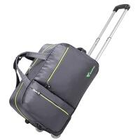 e旅行包手提拉杆包女20寸行李包可折叠拉杆箱男牛津布行李箱 95银灰色 22寸