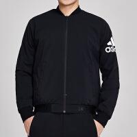 adidas阿迪达斯男服外套夹克2019新款飞行领棒球服休闲运动服DW4588