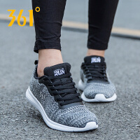361度女运动休闲飞织跑鞋
