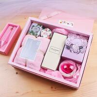 成品喜糖婚礼伴郎团伴娘伴手礼毛巾花茶香水礼盒结婚小礼物回礼品 爱浓礼盒+手提袋+卡片