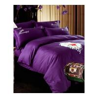 棉绣花四件套简约式裸睡套件高支高密酒店床品・ 2.0m床 加大被套2.2mX2.4m