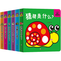 猜猜是什么 奇妙洞洞书全套6册 0-3岁感觉训练游戏书 绘本0-3岁幼儿益智玩具书宝宝早教启蒙3d立体翻翻书 亲子互动